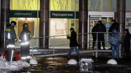 Explosion injures 10 at Russian supermarket
