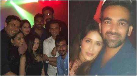 Sagarika Ghatge and Zaheer Khan ring in their first Christmas with friends, see photos