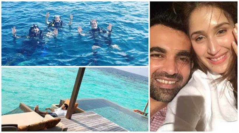 Sagarika Ghatge and Zaheer Khan honeymoon pictures