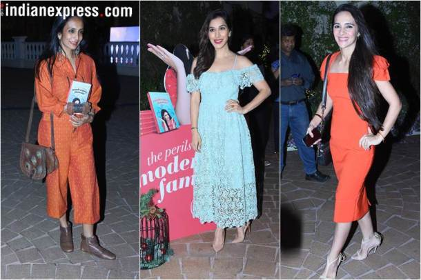 Sophie Choudry, Tara Sharma and Suchitra Pillai-Malik soha ali khan book launch
