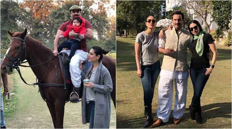 Saif Ali Khan, Kareena Kapoor Khan and Taimur Ali Khan.