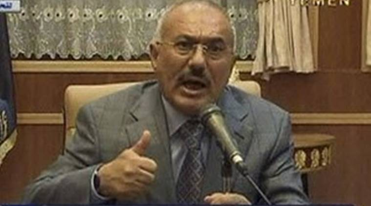 ali abdullah saleh, General People's Congress party (GPC), Yemeni president, RPG and gun attack, indian express, world news
