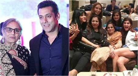 Salman Khan and family celebrate Salma Khan's birthday. See photos