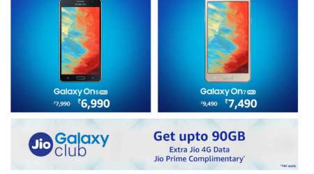 Samsung Happy Hours sale on Amazon: Deals on Galaxy On5 Pro, On7 Pro and more mobiles