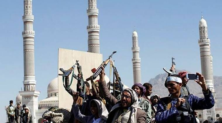 yemen, houthi rebels, saudi arabia, ballistic missile, world news, indian express