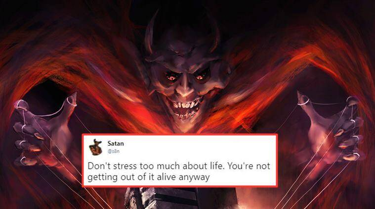 Satan has a Twitter account and his tweets are savage as 'Hell'
