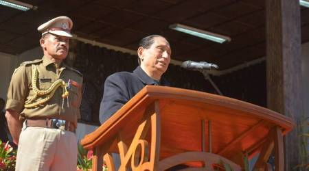 Odisha Governor SC Jamir addressing the second day of the 18th Hornbill Festival.