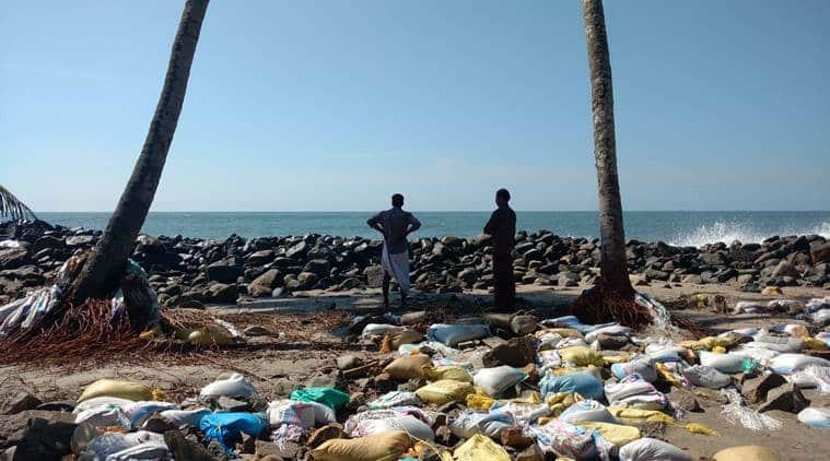 Kerala cyclone Ockhi damage