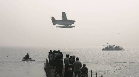 Gujarat polls: With PM Modi as passenger, first seaplane from Sabarmati river takes off