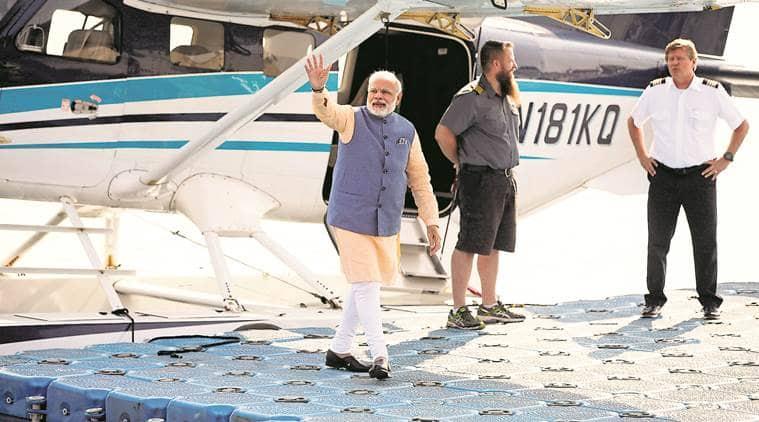 PM Modi travels by sea plane