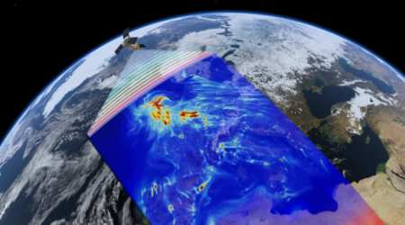 European satellite Sentinel-5P sends images of global airpollution