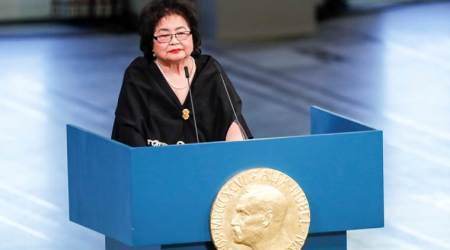 Nobel Peace laureate Setsuko Thurlow urges world to 'see the light' and ban nuclear weapons