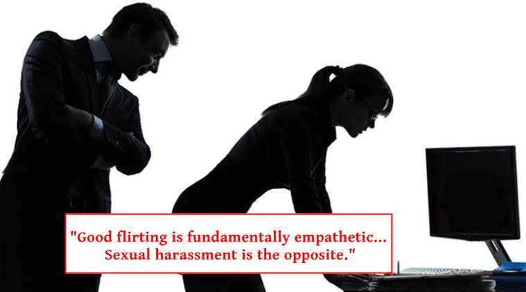 sexual harassment, sexual harassment and consent, fliritng, difference between sexual harassment and flirting, viral post about sexual harassment, indian express, indian express news