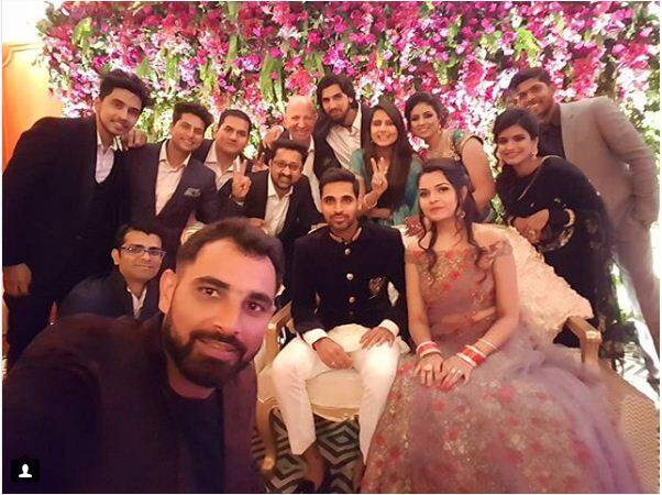 bhuvneshwar kumar wedding reception
