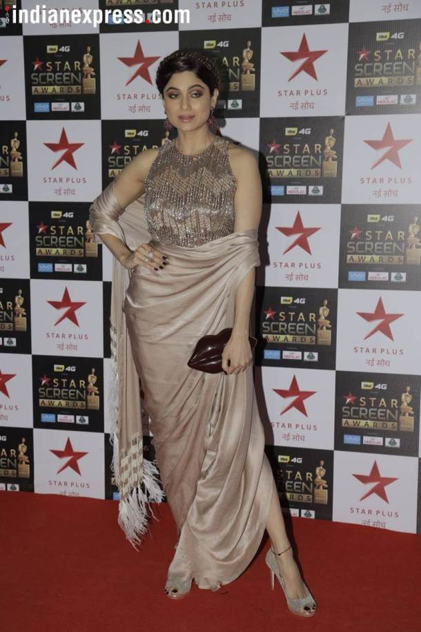 shamita shetty at star screen awards