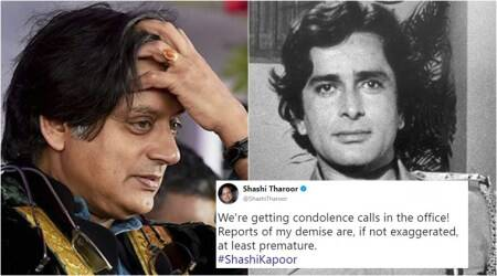 Shashi Kapoor passes away, but Shashi Tharoor's office gets 'condolence calls'