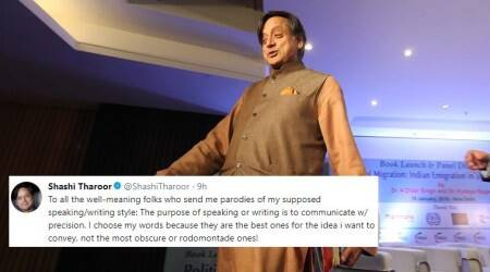 'I want my school fees back': Shashi Tharoor's tweet has got the Internet rushing to the dictionary, again