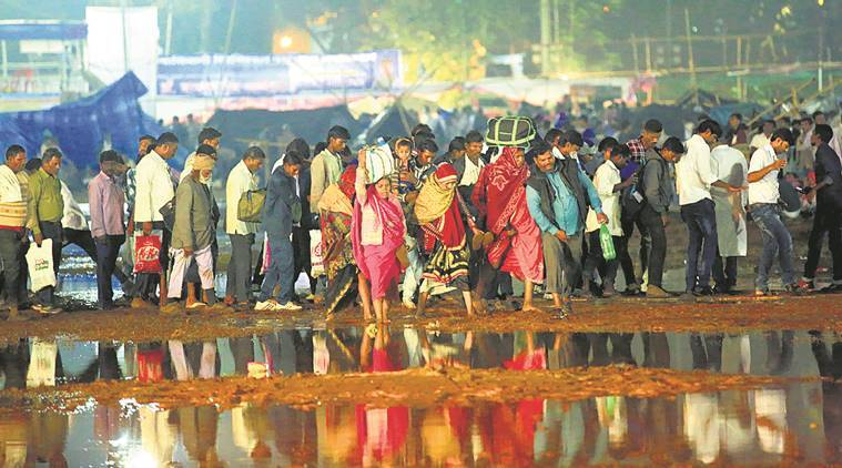 Ambedkar death anniversary in Mumbai's Shivaji Park
