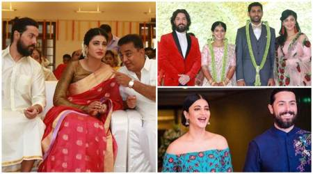 Shruti Haasan, Michael Corsale and Kamal Haasan attend Aadhav's wedding festivities, see photos