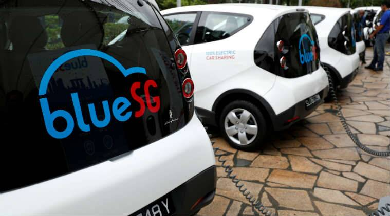 Singapore is now being offered a new public transport system, as BlueSG is helping the city-state to run an electric car-sharing service.