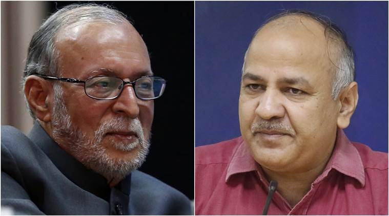 Manish Sisodia, Anil Baijal, Delhi Governor, Delhi Deputy CM, Doorstep delivery services, AAP, Aam Aadmi Party and Delhi Governor, Arvind Kejriwal, Indian Express