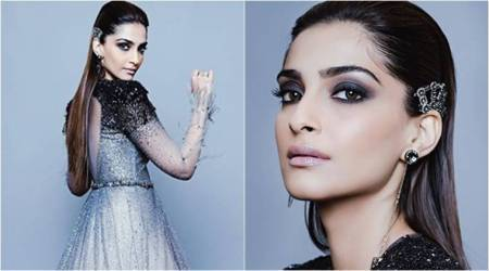 Sonam Kapoor channels her inner Black Swan in this beautiful Tarun Tahiliani ombre gown