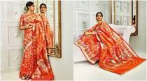 Sonam Kapoor brings back the elegance of the '70s in a traditonal Banarasi sari