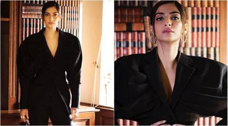 Sonam Kapoor's fierce power suit might give Johnny Bravo vibes, but we love it