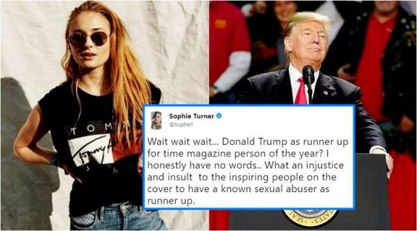 Game of Thrones star Sophie Turner, Sophie Turner Twitter, Donald Trump, MeToo campaign, Time Magazine, Time magazine Person of the Year 2017, Person of the year 2017, Indian express, Indian express news
