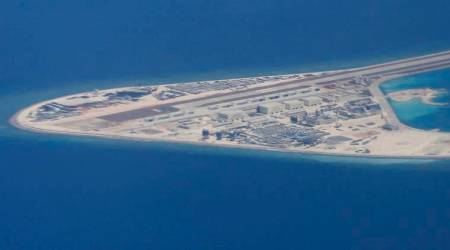 China showcases jet fighters on South China Sea island