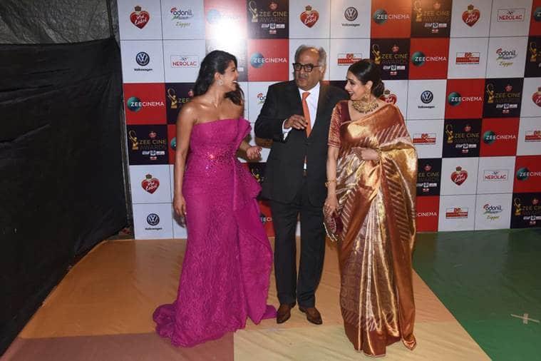 sridevi boney kapoor priyanka chopra at zee cine awards 2018