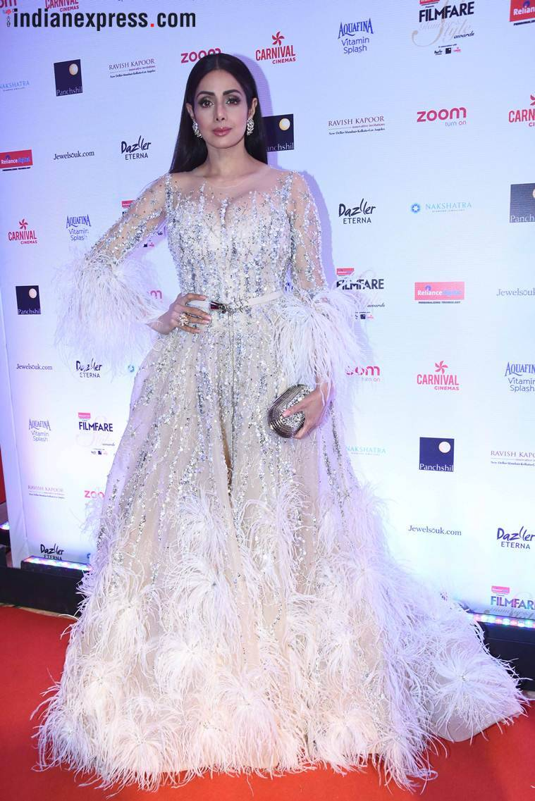 sridevi  at filmfare glamour and style awards