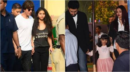 Shah Rukh Khan, Aishwarya-Abhishek attend AbRam and Aaradhya's annual day event, Amitabh Bachchan gives it a miss