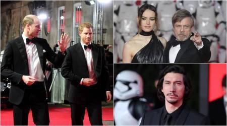 Star Wars The Last Jedi: Prince William and Prince Harry enjoy the London premiere