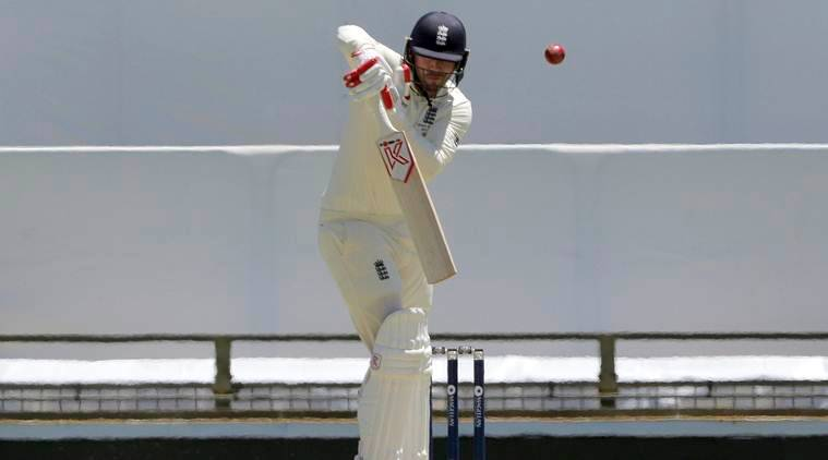 Mark Stoneman bats against Australia