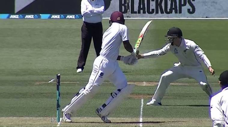 West Indies were bowled out for 134.
