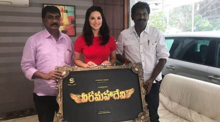 Sunny Leone's first Kollywood film as a leading lady titled Veeramadevi