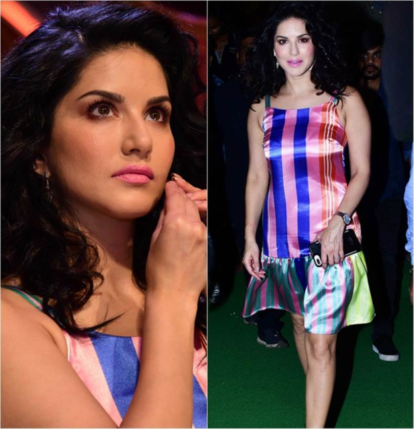 Sunny Leone, Bizarre outfits 2017, Fashion Misses 2017, Worst Outfits 2017