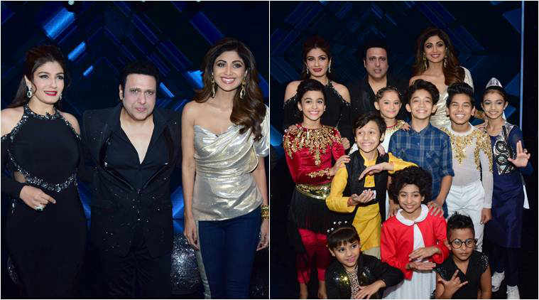 Govinda raveena tandon and shilpa shetty dial up nostalgia on raveena tandon govinda shilpa shetty super dancer 2 thecheapjerseys Images
