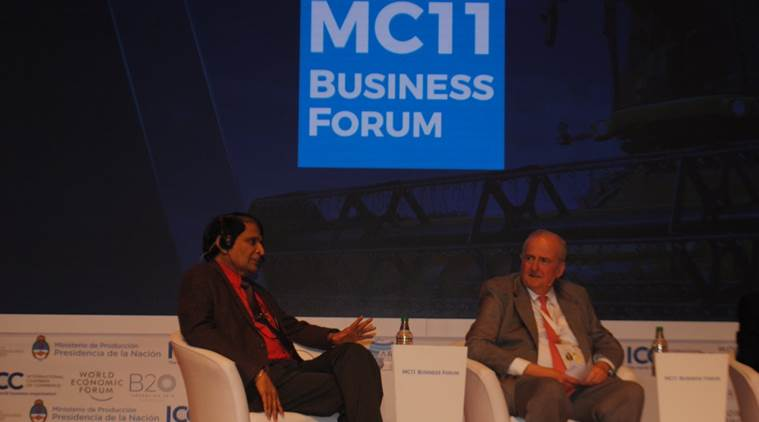 Suresh Prabhu on food security issue at WTO
