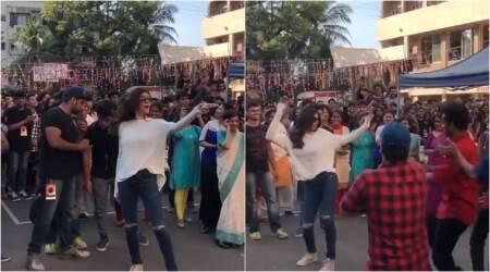 This video of Sushmita Sen dancing with college students has set the Internet on fire