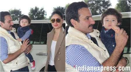Taimur Ali Khan heads to Pataudi Palace for first birthday celebrations. See photos