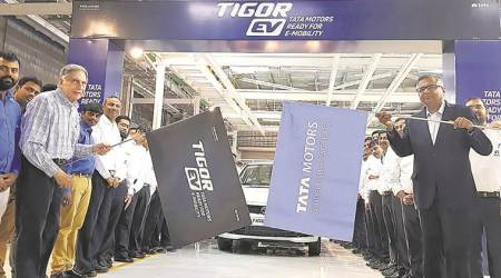 Tata Motors rolls out first electric Tigor vehicles from its Sanand plant