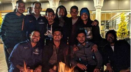 Team India unwinds after Dharamsala debacle, see pic