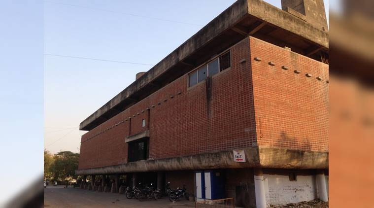 Sanskar Kendra ahmedabad, ahmedabad places to see, Corbusier ahmedabad, Corbusier building india, ahmedabad heritage city, art news, indian express, sunday eye, eye 2017, eye magazine