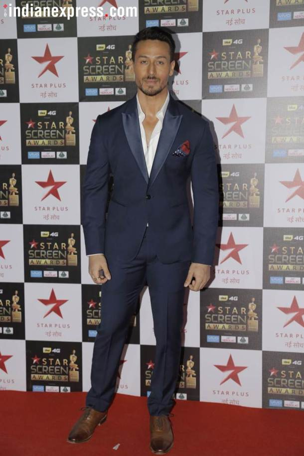 tiger shroff at star screen awards
