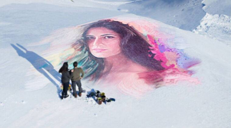 Salman Khan Draws Katrina Kaif's Portrait On Snow Covered Mountain Of Austria