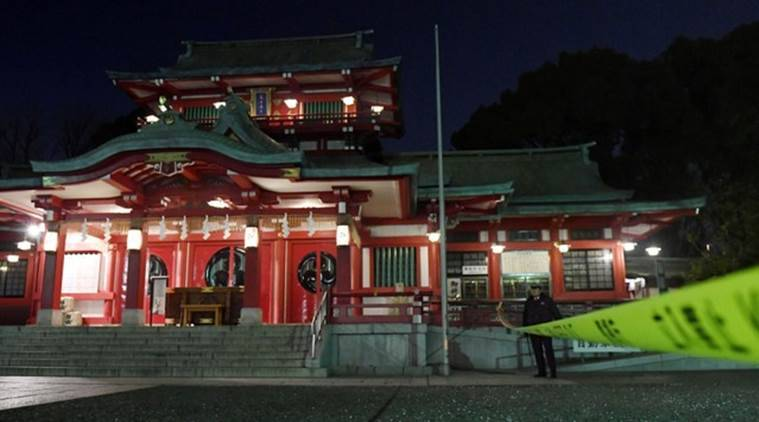 tokyo shrine, shrine murder, tokyo priest murder, japan shrine murder, samurai sword, world news, asia news, indian express
