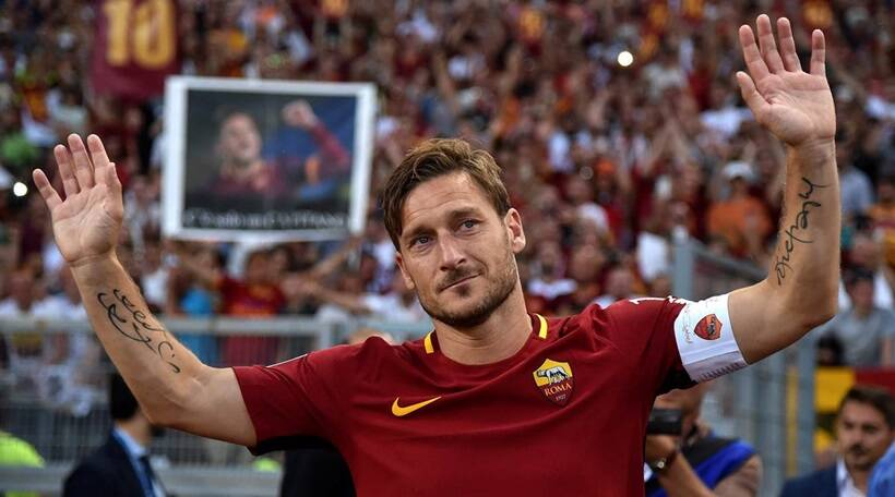 Francesco Totti retirement in 2017