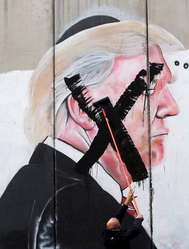 Donald Trump, slurring, Trump slurring speech, US Jerusalem, Palestine conflict, Trump on Jerusalem, Israel, world news, indian express